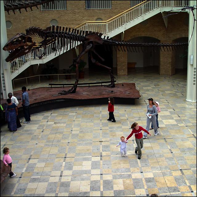 Girl Running With Toddler at Fernbank, 2005