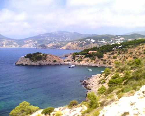 La cote sud d'Ibiza