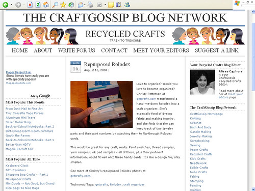 Craft Gossip Blog Network
