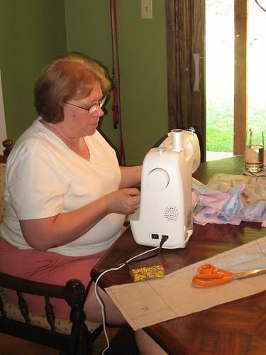 Grandma Lori Sewing