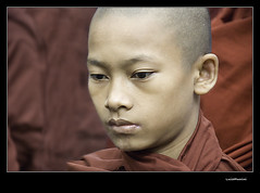 Where are our monks? (**luisa**) Tags: red bravo peace burma monk monastery myanmar birmania freeburma magicdonkey fivestarsgallery espressionidellanima