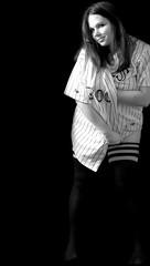226/365: GO ROCKIES!!! (.tara.) Tags: bw selfportrait me socks rockies legs baseball jersey athome mbl 365days inthebasement sockdreams sockdreamscom