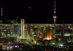 Kuwait city at night (khalid almasoud) Tags: city night landscape evening nikon cityscape photographer great scene kuwait feb  khalid  8800   kuwaitna   mscamera   kuwaitartphoto almsoud