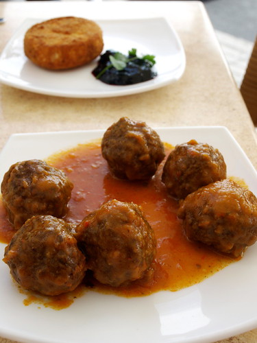 Albóndigas before they were pounced on