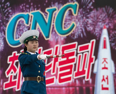 The CNC campain - Pyongyang North Korea (Eric Lafforgue) Tags: woman girl poster war asia satellite police korea cop rocket asie launch coree cnc northkorea dprk propagande coreadelnorte propganda nordkorea 4550    coreadelnord   insidenorthkorea  rpdc  kimjongun coreiadonorte  longrangerocket longrangeballisticmissiletest