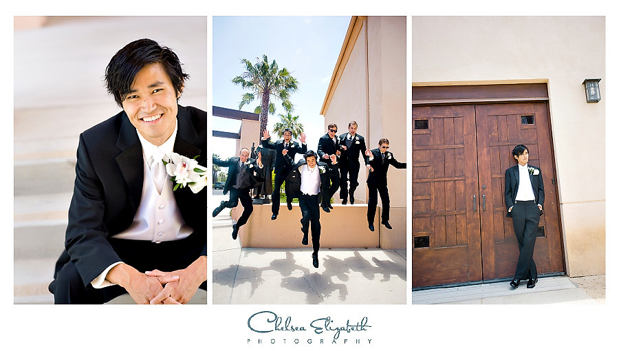 Padre Serra Parish Camarillo Groomsmen wedding portrait image