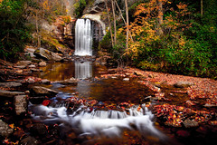 IMG_3521-2 (Andy Stacy) Tags: longexposure autumn red orange fall water colors leaves yellow forest canon river waterfall tripod falls lookingglass polarizer 28135 ef mark2 5dmarkii