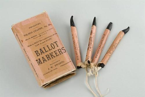 1908 Crayon Ballot Markers