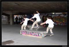 On the edge 1 (alexlong26) Tags: digitalmanipulation skateboarders