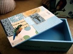 wooden decoupaged box