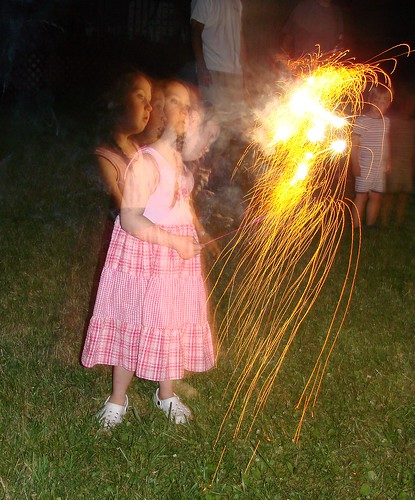 Playing with a sparkler