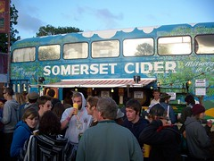 glastonbury cider bus