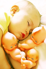 Sleeping Cuties (boopsie.daisy) Tags: sleeping baby beautiful doll nap sweet slumber 4 adorable peaceful sadie dreaming precious lovely naptime year1 quadruplets dolllike kewpies slumbering kewpiedolls