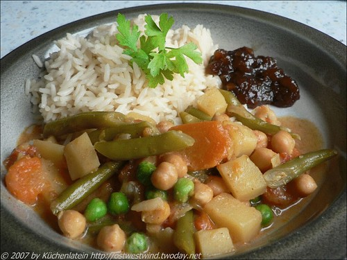 No Hurry Vegetable Curry