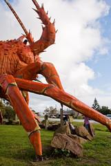 The Big Lobster (coopisthehighroller) Tags: australia roadtrip kingston gaudy ugly monstrosity fiberglass nasty hideous tasteless garish thebiglobster excresence