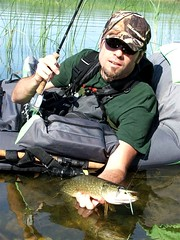 belly boat pike (helti) Tags: lake fishing flyfishing pike pikefishing bellyboat