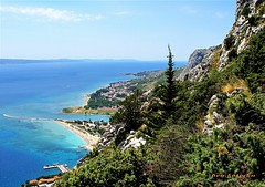 Panorama from Fortica at Omis(Bay of Pirates) and Adriatic Sea - by Bea Kotecka { very busy, warm hugs to ALL *_* }