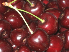dark sweet cherries from the farm