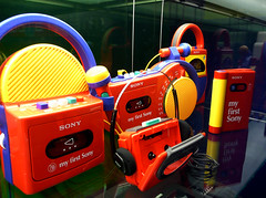 My first Sony (rogiro) Tags: blue red freeassociation colors yellow youth radio colours child play walkman sony microphone hilversum basic ghettoblaster childish soundandvision soundblaster beeldengeluid myfirstsony