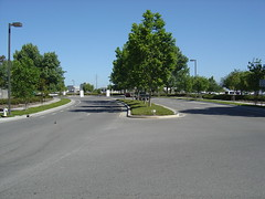 Intersection at commuter shuttle stops 2 (liliacarol) T