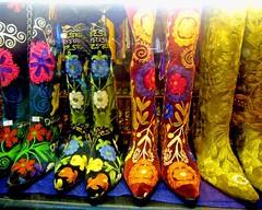 these boots are made for... (j.o.h.n. walker) Tags: turkey boots türkiye decoration istanbul turquia estambul grandbazaar johnwalker stiching whatcouldpossiblygowrong istanbulturkey