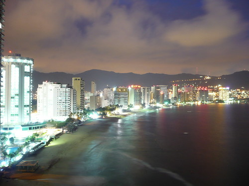 Acapulco Skyline at Night