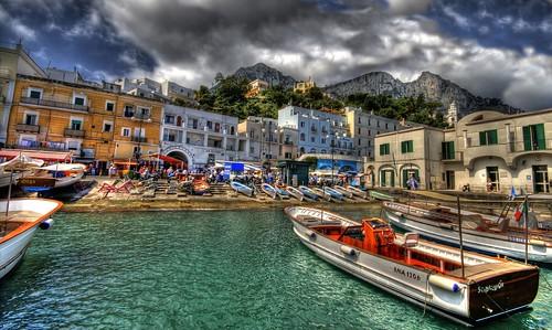 Capri, il porto di Marina Grande.