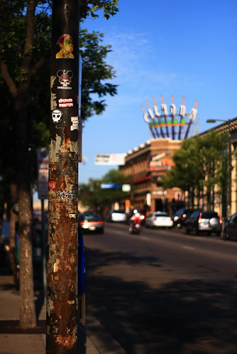 Stickers On A Pole 3433