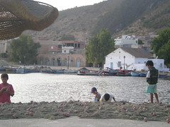 Enfants dans le vieux port