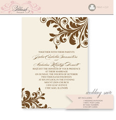 Flourish DIY Wedding Invitation Suite - Printable PDF (blush printables) Tags: graphicdesign invitation card pdf weddings custom personalized weddingreception placecard weddinginvitation printable tablenumber escortcard knetteam printableweddinginvitations blushprintables weddinginvitationsuites