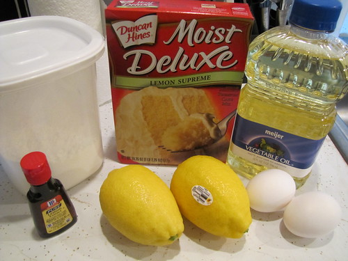 Lemon Burst Cookies Ingredients