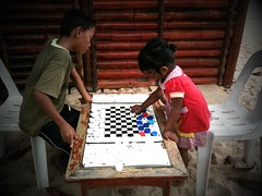 Checkers with bottle caps, Tioman