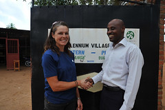 2a. Kate with Donald Ndahiro, Director of the Mayange Millennium Village