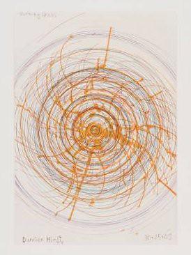 Hirst, Damien (1965- ) - 2002 Burning Wheel (Tate Gallery, London)