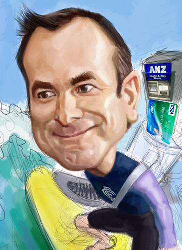 digital caricature for ANZ - 3