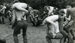 'Beasting' the nods Woodbury common 1977 (Fez Photos) Tags: marine royal deal british marines 42 commando cdo lympstone royalmarines diomede ctcrm bootneck bootnecks