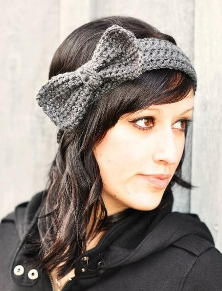 knitted bow headband