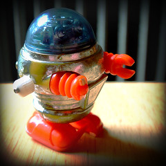 My Vintage Robot (Opal in the rough) Tags: old childhood vintage toy robot windup fakelomo