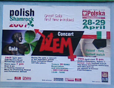 polish shamrock image photograph dublin may 2007