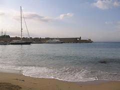 Beach and waterfront (RossM) Tags: greece theworld rhodesgreece