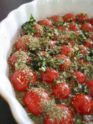 Cherry tomatoes confit