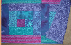 ocean bright queen or full-size quilt (suchprettycolors) Tags: pink blue hot bed bedroom purple quilt handmade turquoise lavender craft fuschia blanket patchwork jeweltone cooltones