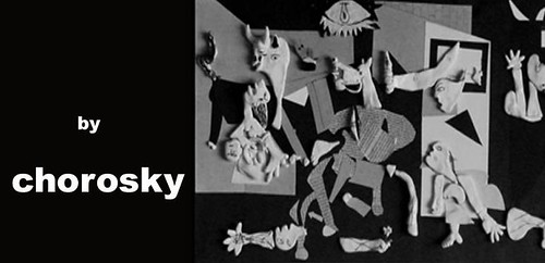 Banner Gernica de Picasso en Plastilina (Clay)