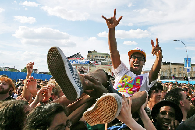 Crowdsurfer at Siren Music Festival