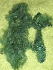 carded silk