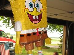 Spongebob Piata (rubey_kay) Tags: party game garage troy spongebob pinata cracked spongebobsquarepants troys33rdbirthday