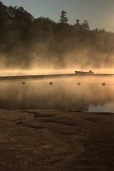 Morning Fog (Mike Bingley) Tags: mist lake canada sunrise quebec scouts scoutscanada tamaracouta cj07