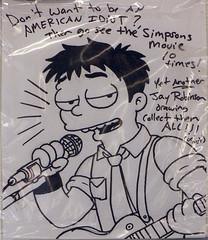 Simpsons characters at the Kwik E Mart - Billie Joe (Green Day) (dogwelder) Tags: california promotion movie cartoon july simpsons burbank zurbulon6 greenday conveniencestore 2007 billiejoe kwikemart zurbulon gatturphy notbillyjoe