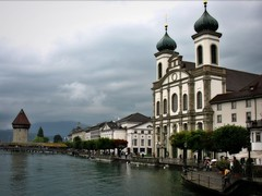 Charming Lucerne (bekahpaige) Tags: city bridge switzerland town europe village suisse swiss luzern coveredbridge fv10 charming lucerne woodenbridge chapelbridge kapellbrcke supershot 25faves aplusphoto travelerphotos diamondclassphotographer flickrdiamond superhearts flickrelite platinumheartaward excapture