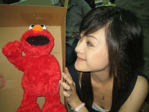 Sandy and Elmo